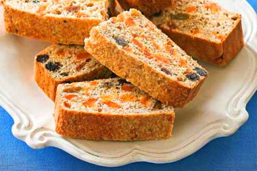 Wholemeal apricot slice