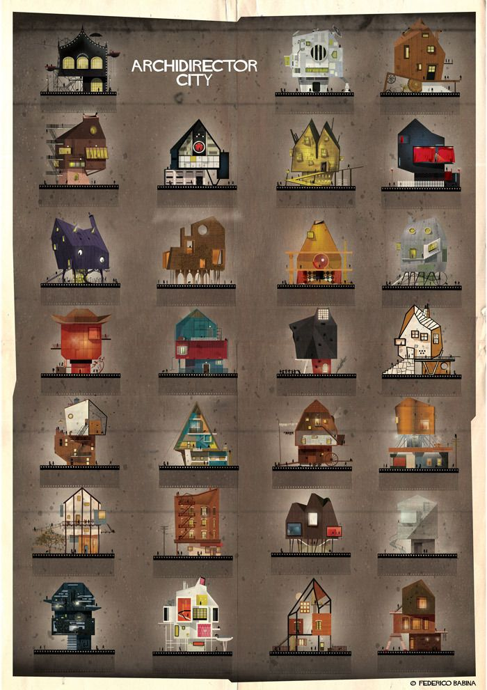 Gallery - ARCHIDIRECTOR: A Fantastical City Inspired by Famous Directors by Federico Babina - 1