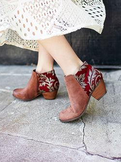 ankkle boot red and brown BC Footwear