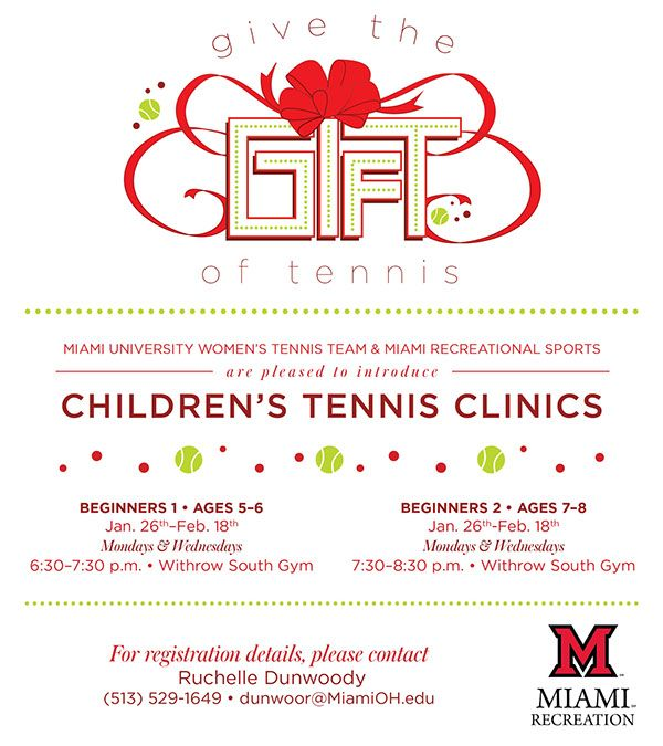 Give the Give of Tennis - Miami Rec Center on Behance