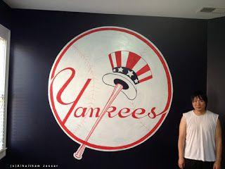 Jassar's Blog: Yankees Logo mural