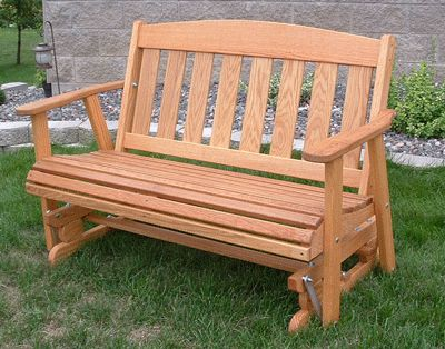 Mission Cuddle Glide Amish Outdoor 5 Ft Stained Oak 379 Plus Ups Shipping Call For Rates