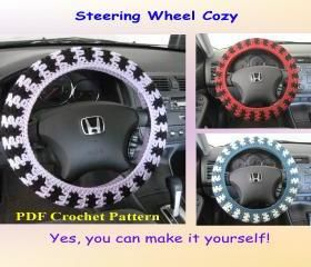 Crochet Pattern - Steering Wheel Cozy/Cover @ Andrea Mangels..can you PLEASEE make me one!!
