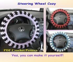 Crochet Pattern - Steering Wheel Cozy/Cover