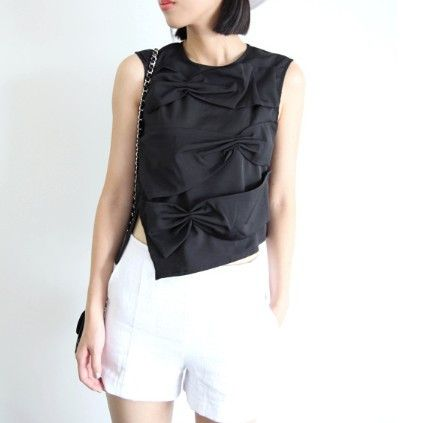 Diana Knot Bow Top $48.00 http://www.helloparry.com/collections/july-arrivals/products/diana-knot-bow-top