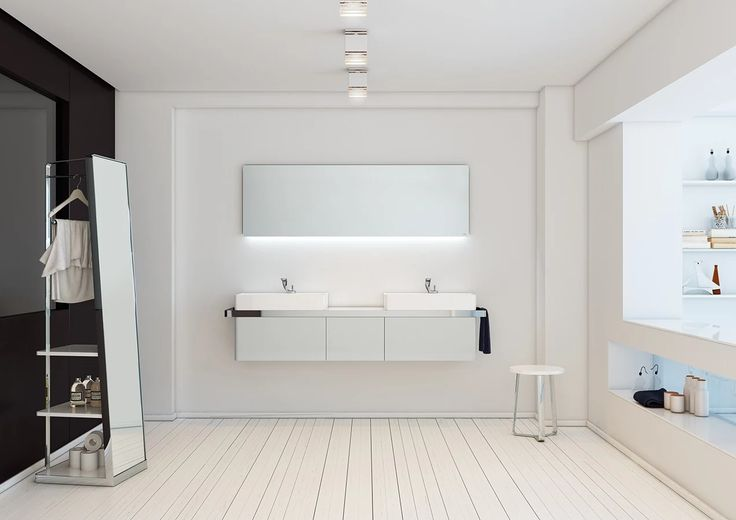 Foto: Wall mounted module of three drawers in Cemento 259B glossy Lacquer or simply a touch of beauty for the #bathroom. http://inbani.com/portfolio/structure/  #design #interiordesign #home #furniture #home