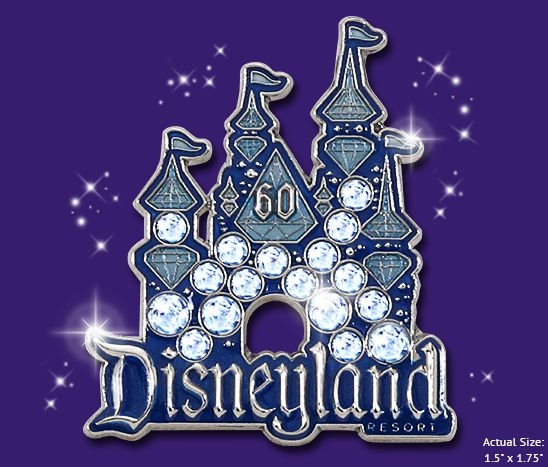 Disneyland is celebrating 60 years! Commemorate the occasion with this beautiful limited-release Disneyland® Resort Diamond Celebration Pin, available on July 15 while supplies last. Click the image for details!