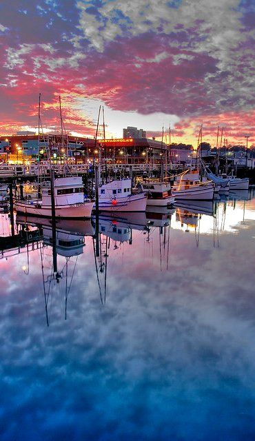 Fishermen's Wharf ~ San Francisco at dusk, California | Flickr - Photo by canbalci