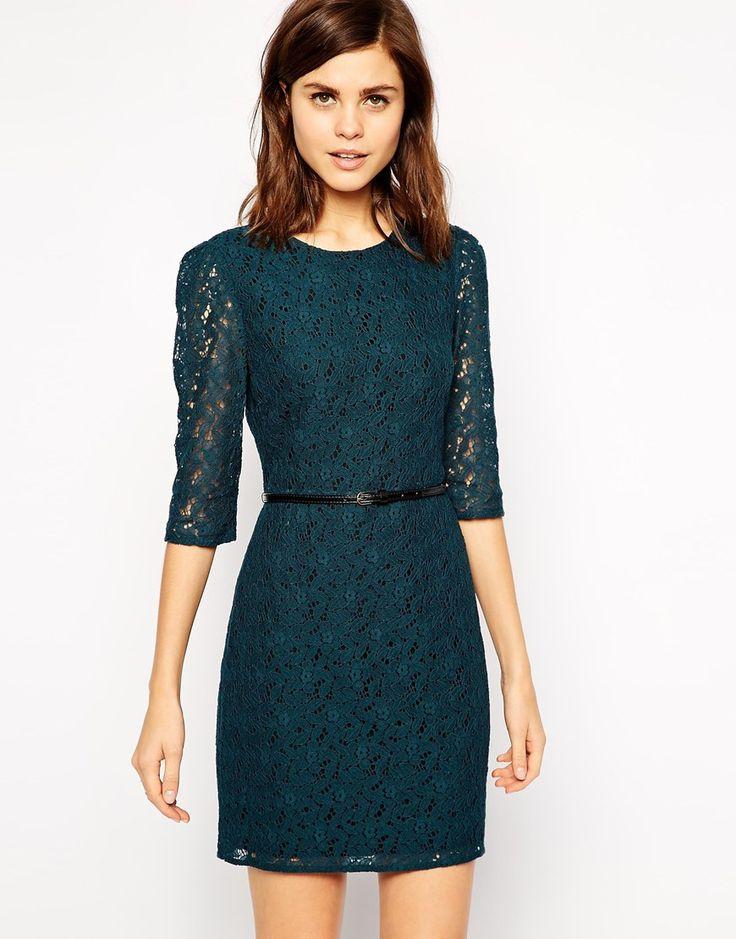 Oasis Lace Long Sleeve Shift Dress