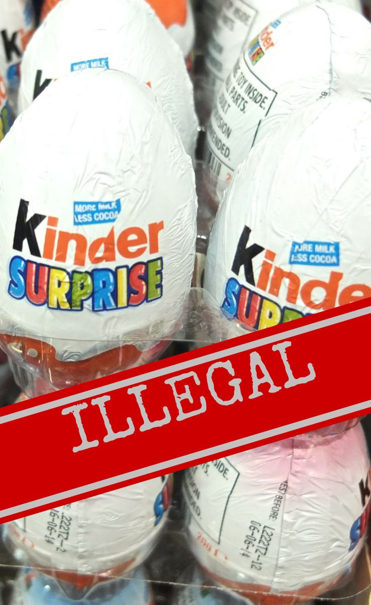 Kinder Surprise Eggs are an illegal souvenir to bring into the US, with fines up to $2500 per egg!