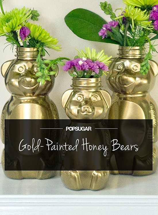 Gilded Honey Bears Are So Cute ... or you could use pastel colors for a nursery ... possibilities are endless!
