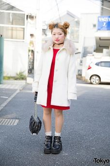 Twin Buns, RNA Purse, Bubbles Harajuku Ankle Boots