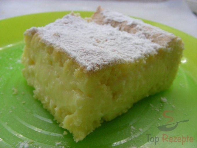 Biskuit-Puddingkuchen   Das nächste mal für ein Blech doppelte Menge und beim Pudding mehr Milch