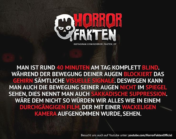 ❝I see blind people ❞ #horrorfakten