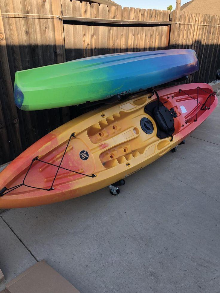 Indoor outdoor freestanding kayak rack kayak storage