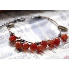 Vintage Bracelet - Red Cherries