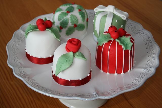 Mini cakes Natalinos