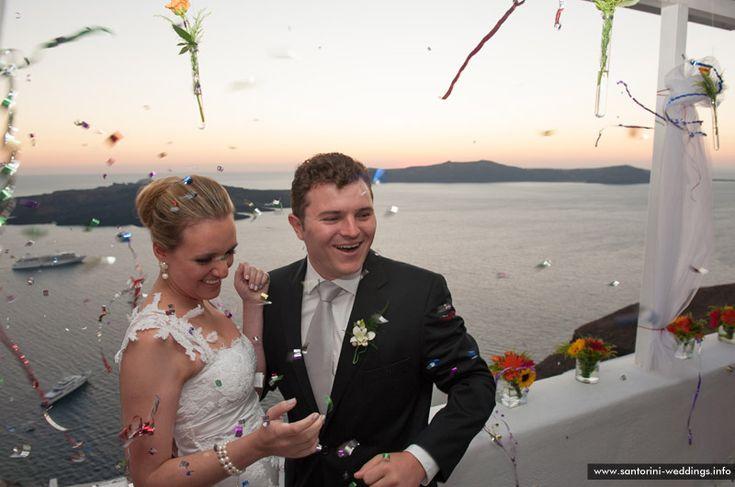 Santorini sunset wedding