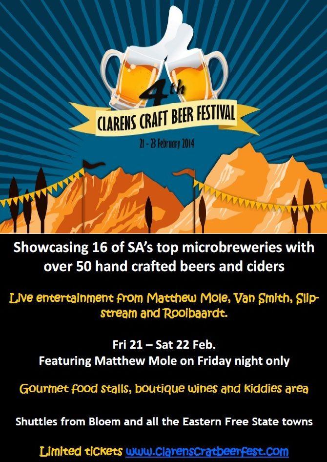 Clarens Craft #Beer Festival, 21 - 22 February 2014 http://www.n3gateway.com/