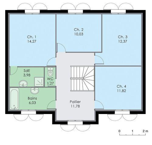 Maison familiale 8 - Détail du plan de Maison familiale 8 | Faire construire sa maison