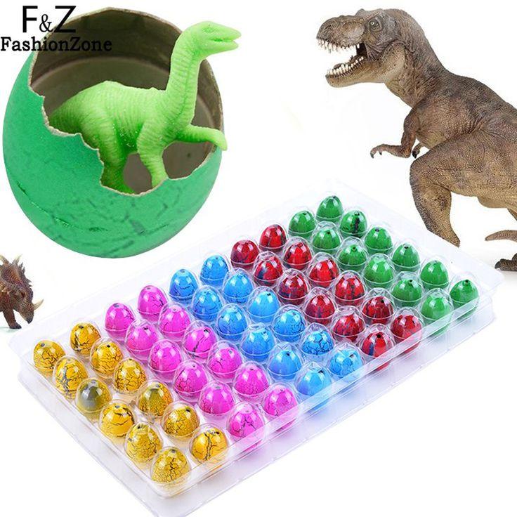 60 stks/partij Kleurrijke Baby Novelty Gag Speelgoed Magic Uitkomen Inflatie Groeiende Dinosauruseieren Water Voor Kinderen Educatief Gift