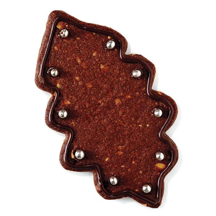 Feuille de gui choco-noisettes #biscuits #noel #chocolat #cdpfetes