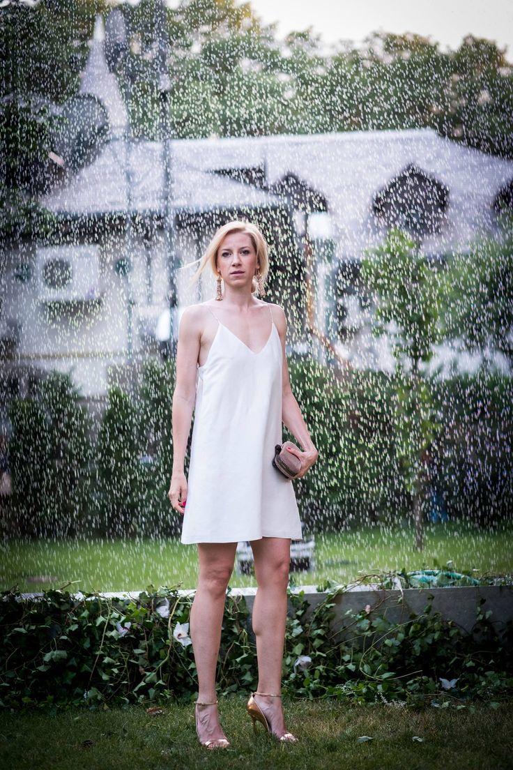 Sonia Argint Ionescu @Silk Essentials Garden Party ^White Soft&Rigid Reversible Double Face Dress