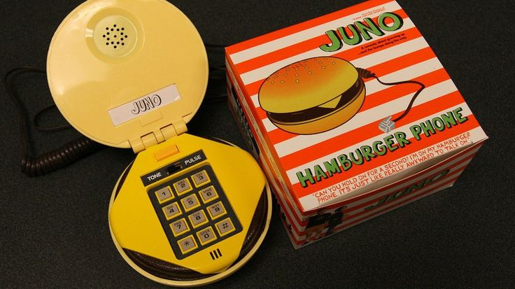 """I've written about some of the cool Juno t-shirt promos that Fox Searchlight passed out at the advanced screenings. But check out this killer Hamburger phone that was sent out to select critics. The box art features the quote from the movie: """"Can you hold on for a second? I'm on my hamburger phone. It's …"""