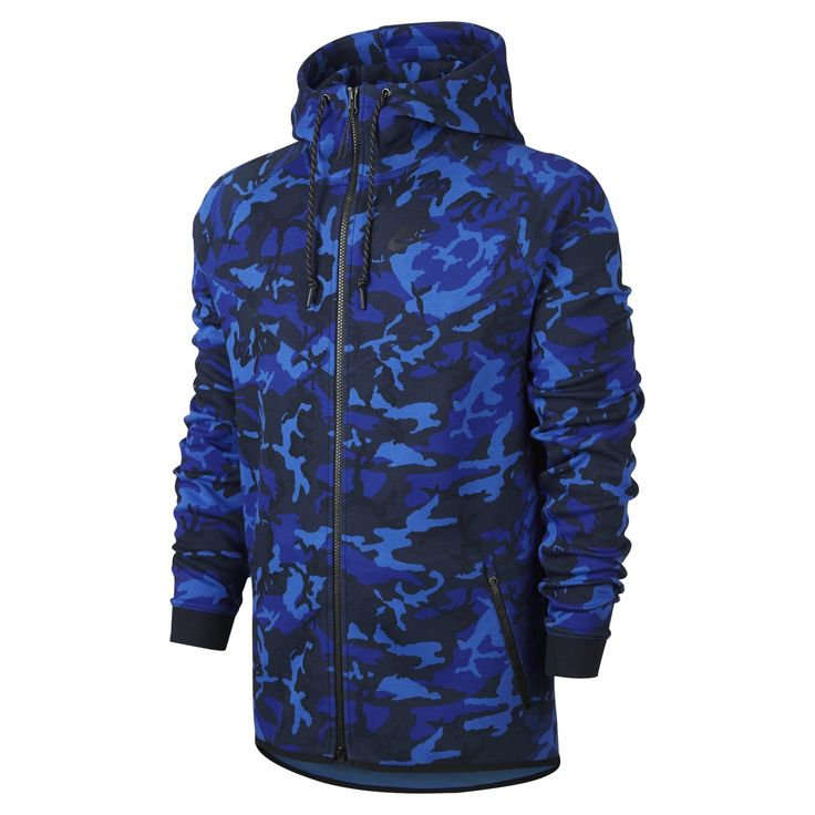 Nike Tech Fleece Windrunner Camo Kapüşonlu Erkek Sweatshirt #694004-480 - Barcin.com
