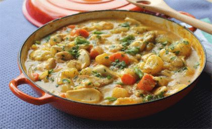 Ricetta: Spezzatino di pollo delicato.