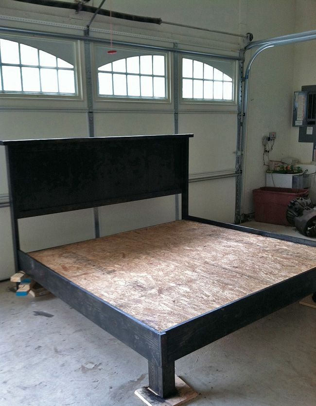 ... platform bed on Pinterest | Diy platform bed frame, Diy bed frame and