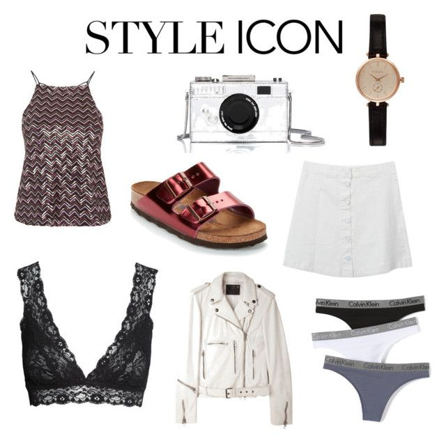 """Style icon"" by fridasaaa on Polyvore featuring Birkenstock, R13, Kate Spade, Topshop, H&M, Barbour, Calvin Klein Underwear, women's clothing, women's fashion and women"