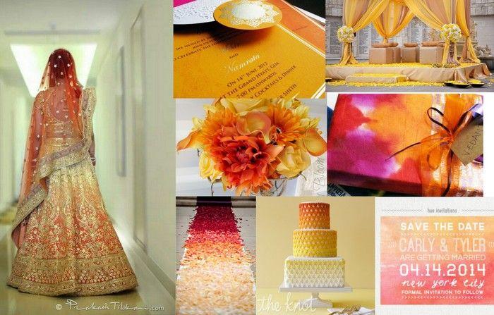 ombre indian weddings #wedmegood
