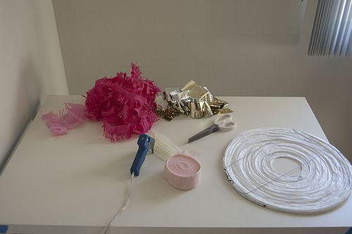 fun pink lanterns DIY