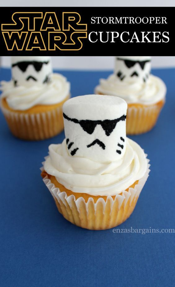 Star Wars Stormtrooper Cupcakes Recipe!  EASY to make and VERY delicious!