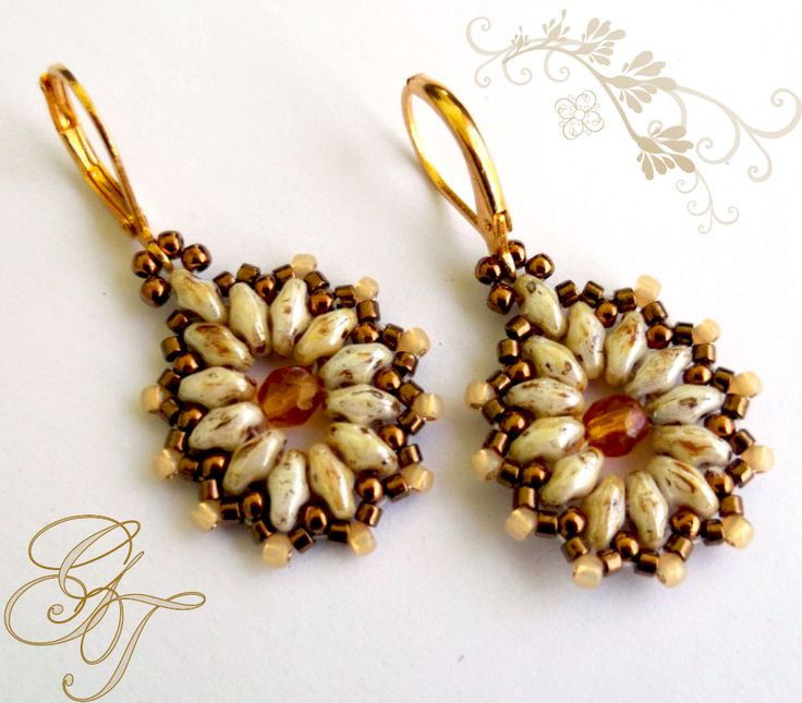 Free pattern for earrings Tea Party Click on link to get pattern - http://beadsmagic.com/?p=7164