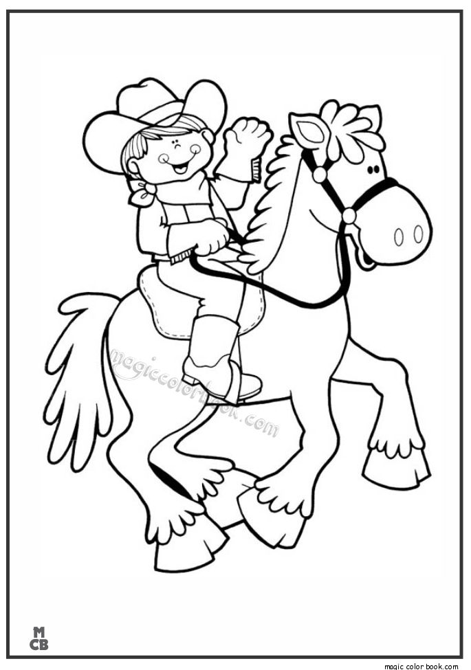 cowboy coloring book pages free - photo#49