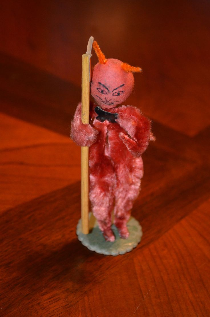 Mexican paper mache vintage judas sculpture folk art at 1stdibs - Vintage And Rare Devil Halloween Pipe Cleaner Made In Japan Chenielle Ebay