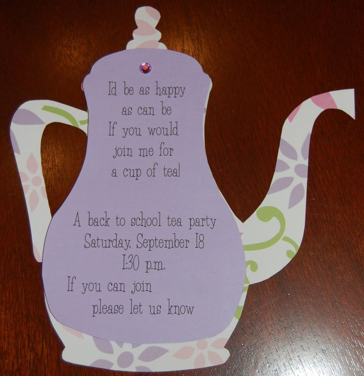 Best 25+ Tea party invitations ideas only on Pinterest | Tea ...