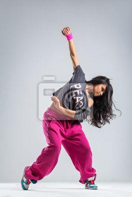 """Canvas eller Poster """"Modern, balans, stinkande - dansaren"""" ✓ Enkelt montage ✓ 365 dagars öppet köp ✓ Se andra mönster från kollektionen!"""