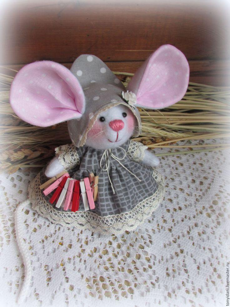 Купить Мышка - малышка с большими ушами Хозяюшка Шершуля - мышка, мышь, мышонок, мышки, мыши