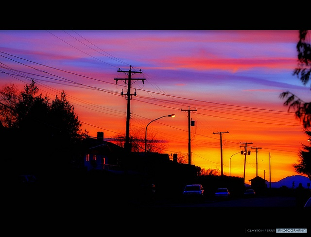 Vancouver's spectacular sunset last night.