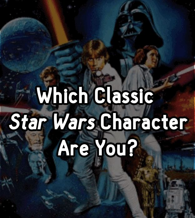 """Which Classic """"Star Wars"""" Character Are You? Man, I got no life today..... I got Hans Solo.... no surprise there."""
