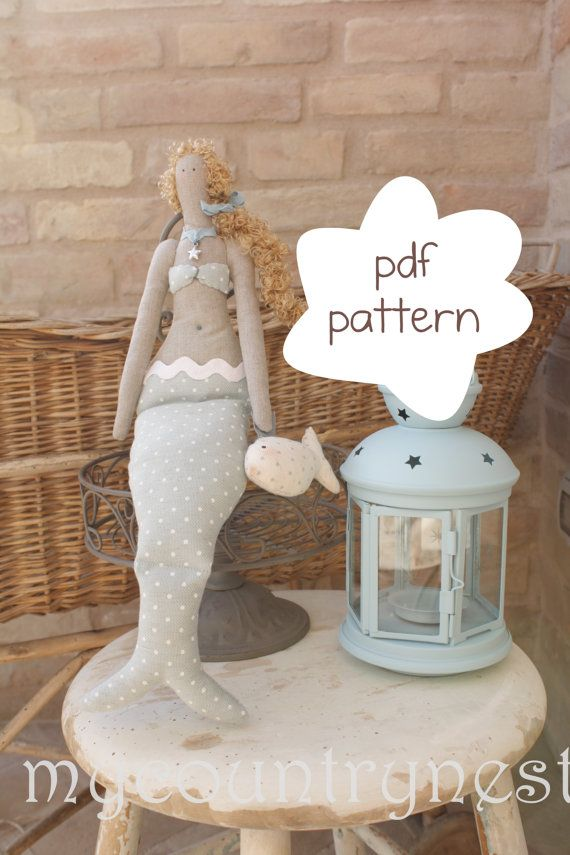 sewing mermaid pattern  mermaid pattern  mermaid by Mycountrynest, €7.50