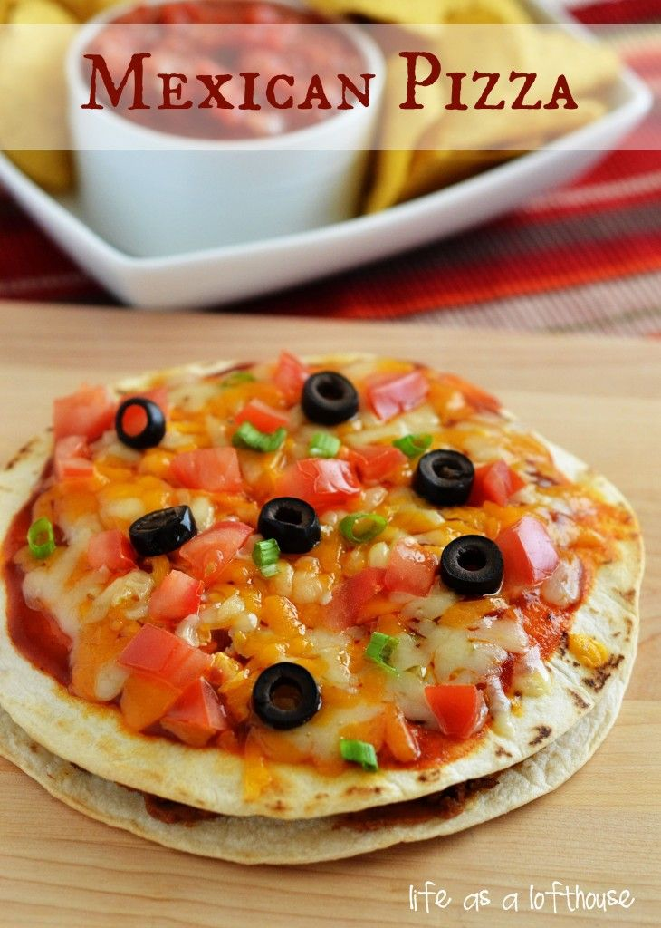 Mexican Pizza - Homemade version of one of my favorite Taco Bell options (yes, I know Taco Bell isn't REAL Mexican Food)