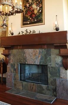 slate fireplace designs | The Slate Stone Fireplace . . . Veritably Versatile!