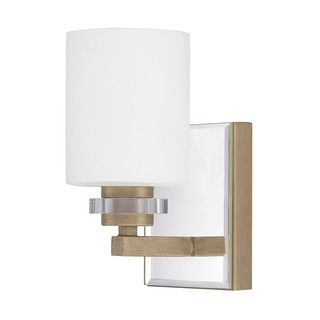 Add A Soft Glow To Hallway Foyer Or Bathroom Wall With This Austin Allen And Company One Light Brushed Gold Sconce