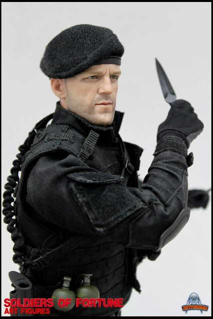 """toyhaven: Preview Art Figures AF-010 1/6 scale Soldiers of Fortune 12-inch action figure """"The Expendables"""""""