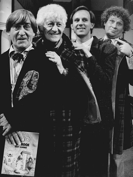 Very nice! :D Patrick Troughton, Jon Pertwee, Peter Davison and Colin Baker, all in a row.