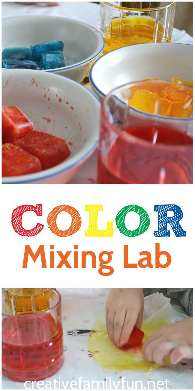 Spanish colors for preschool - Color Mixing Lab Steam Activity